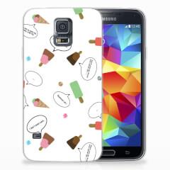 Samsung Galaxy S5 Siliconen Case IJsjes
