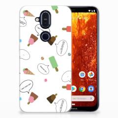 Nokia 8.1 Siliconen Case IJsjes