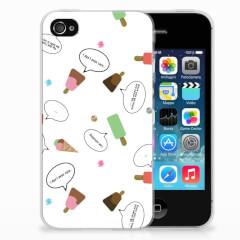 Apple iPhone 4 | 4s Siliconen Case IJsjes