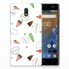 Nokia 3 Siliconen Case IJsjes