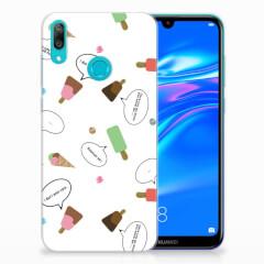 Huawei Y7 2019 Siliconen Case IJsjes