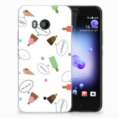 HTC U11 Siliconen Case IJsjes
