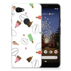 Google Pixel 3A Siliconen Case IJsjes