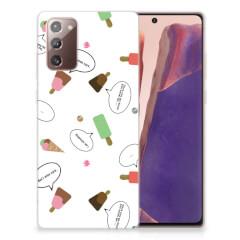 Samsung Note 20 Siliconen Case IJsjes