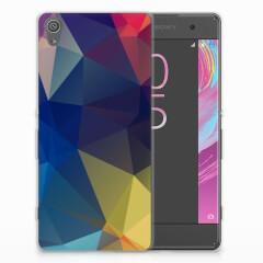 Sony Xperia XA | XA Dual TPU Hoesje Polygon Dark