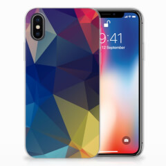 Apple iPhone X | Xs TPU Hoesje Polygon Dark