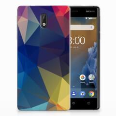 Nokia 3 TPU Hoesje Polygon Dark