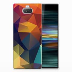 Sony Xperia 10 Plus TPU Hoesje Polygon Color