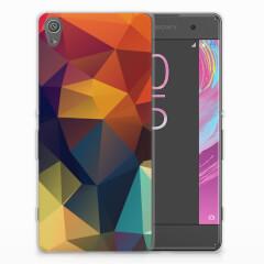 Sony Xperia XA | XA Dual TPU Hoesje Polygon Color