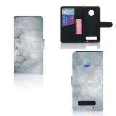 Hoesje Motorola Moto Z Play Painting Grey