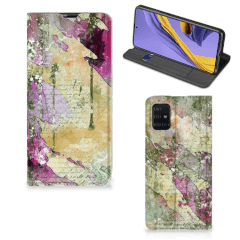 Bookcase Samsung Galaxy A51 Letter Painting
