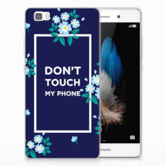 Huawei Ascend P8 Lite Silicone-hoesje Flowers Blue DTMP