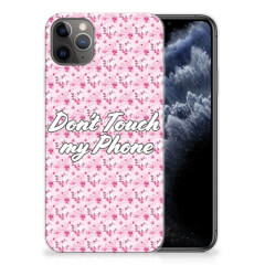 Apple iPhone 11 Pro Max Silicone-hoesje Flowers Pink DTMP