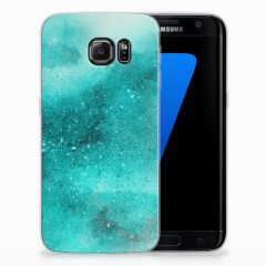 Hoesje maken Samsung Galaxy S7 Edge Painting Blue