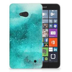 Hoesje maken Microsoft Lumia 640 Painting Blue