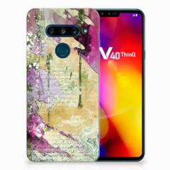 Hoesje maken LG V40 Thinq Letter Painting