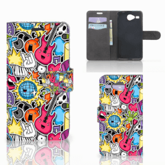 Acer Liquid Z520 Wallet Case met Pasjes Punk Rock