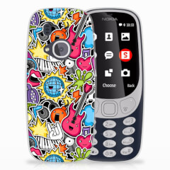 Nokia 3310 (2017) Silicone Back Cover Punk Rock