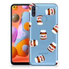 Samsung Galaxy A11   M11 Siliconen Case Nut Jar