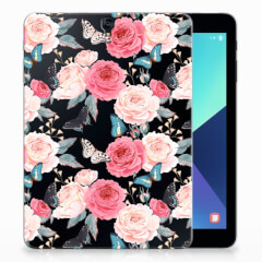 Samsung Galaxy Tab S3 9.7 Siliconen Hoesje Butterfly Roses
