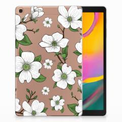 Samsung Galaxy Tab A 10.1 (2019) Siliconen Hoesje Dogwood Flowers