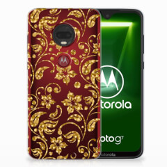 Motorola Moto G7 | G7 Plus TPU Case Gouden Bloemen