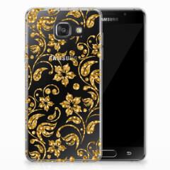 Samsung Galaxy A3 2016 TPU Case Gouden Bloemen