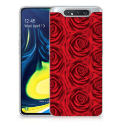 Samsung Galaxy A80 TPU Case Red Roses