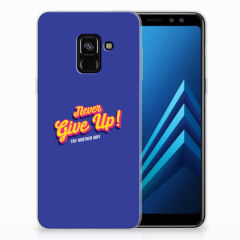 Samsung Galaxy A8 (2018) Siliconen hoesje met naam Never Give Up