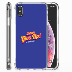 Apple iPhone X   Xs Telefoonhoesje met tekst Never Give Up