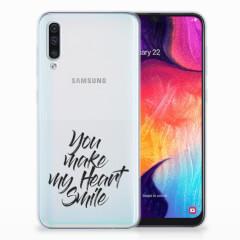 Samsung Galaxy A50 Siliconen hoesje met naam Heart Smile