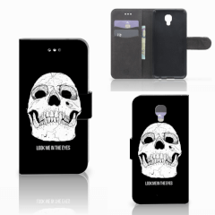 Telefoonhoesje met Naam LG X Screen Skull Eyes