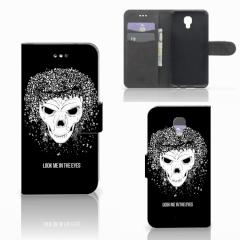 Telefoonhoesje met Naam LG X Screen Skull Hair