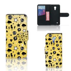 Telefoonhoesje met Naam Samsung Galaxy S4 Mini i9190 Punk Geel