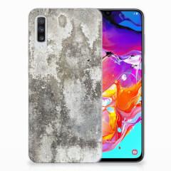 Samsung Galaxy A70 TPU Siliconen Hoesje Beton Print