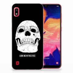 Silicone Back Case Samsung Galaxy A10 Skull Eyes