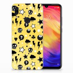 Silicone Back Case Xiaomi Redmi Note 7 Pro Punk Geel