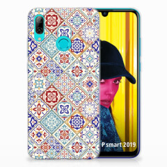 Huawei P Smart 2019 TPU Siliconen Hoesje Tiles Color