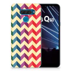 LG Q60 TPU bumper Zigzag Multi Color