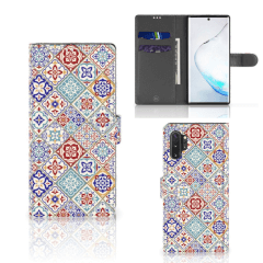 Samsung Galaxy Note 10 Plus Bookcase Tiles Color