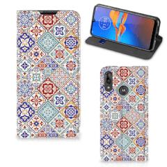 Motorola Moto E6 Plus Standcase Tiles Color