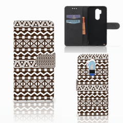 LG G7 Thinq Telefoon Hoesje Aztec Brown