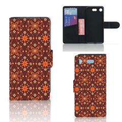 Sony Xperia XZ1 Compact Telefoon Hoesje Batik Brown