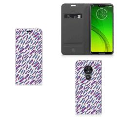 Motorola Moto G7 Power Hoesje met Magneet Feathers Color