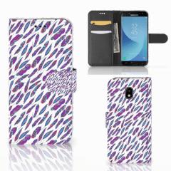 Samsung Galaxy J3 2017 Telefoon Hoesje Feathers Color