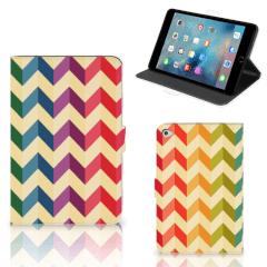 Apple iPad Mini 5 Tablet Hoes Zigzag Multi Color
