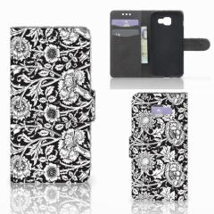 Samsung Galaxy A3 2016 Hoesje Black Flowers
