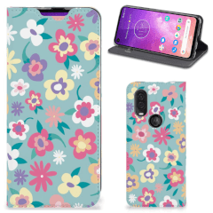 Motorola One Vision Smart Cover Flower Power