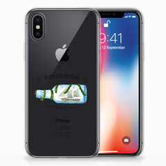 Apple iPhone X | Xs Telefoonhoesje met Naam Boho Bottle
