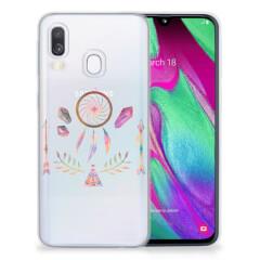 Samsung Galaxy A40 Telefoonhoesje met Naam Boho Dreamcatcher